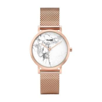 Ceas damă, curea din oţel inoxidabil Cluse La Roche Petite, roz - auriu