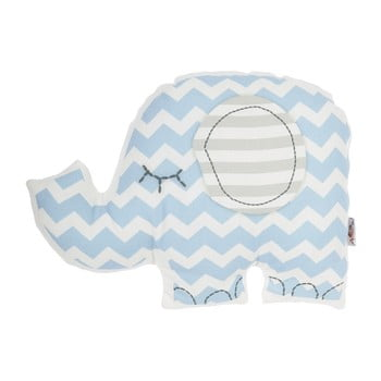 Pernă din amestec de bumbac pentru copii Apolena Pillow Toy Elephant, 34 x 24 cm, albastru imagine