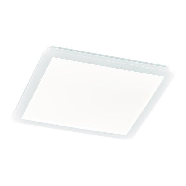 Biała kwadratowa lampa sufitowa LED Trio Camillus, 40x40 cm