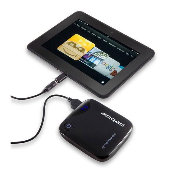Chytrá černá nabíječka na cesty Veho Pebble Explorer Pro, 8400mAh