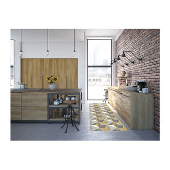 Covor Floorita Dice Grey Ochre, 60 x 190 cm de la Floorita