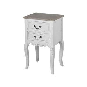 Bílý noční stolek z topolového dřeva Livin Hill Rimini