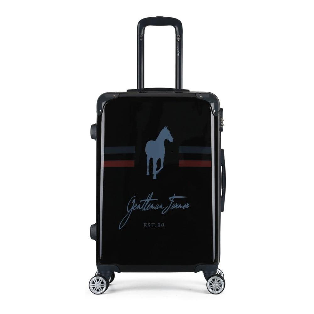 Černý cestovní kufr na kolečkách GENTLEMAN FARMER Valise Grand Format, 47 x 72 cm
