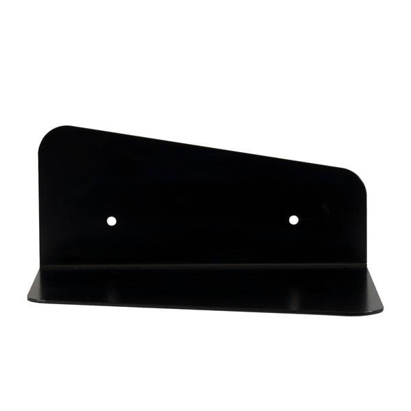 Nástěnná kovová police Gie El 23 cm, černá