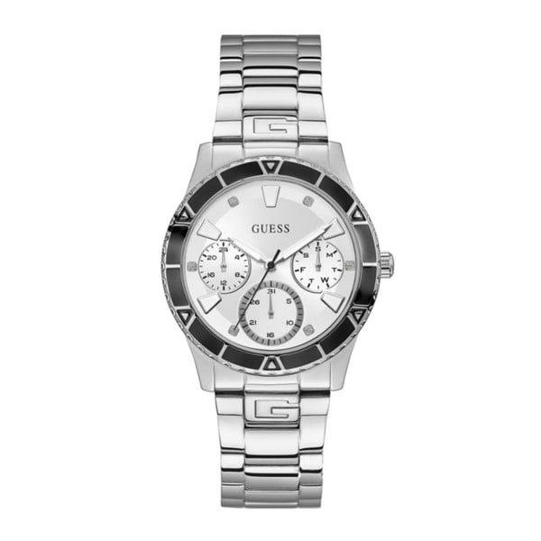 Dámské hodinky ve stříbrné barvě s páskem z nerezové oceli Guess W1158L3