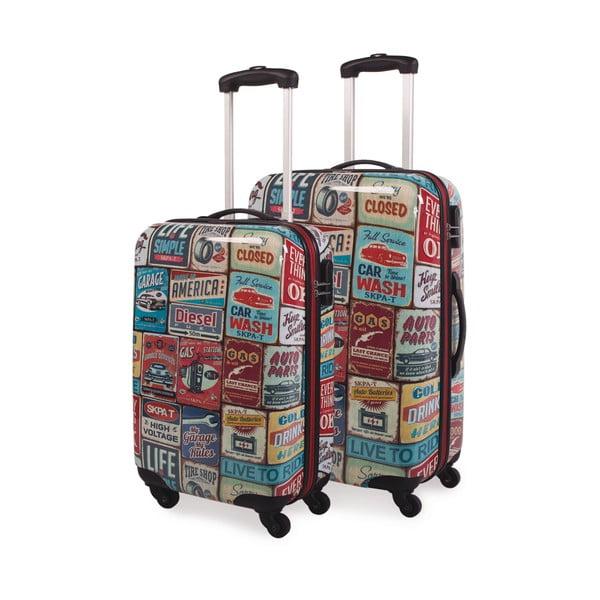 Sada 2 kufrů Skpa-T, retro vzor