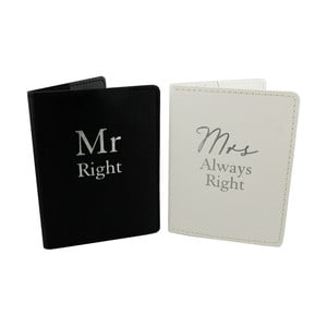 Sada 2 obalů na pas Amore Mr. Right and Mrs. Always Right