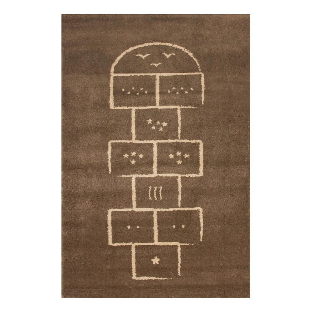 Hnědý koberec Art For Kids Hopscotch, 100 x 150 cm