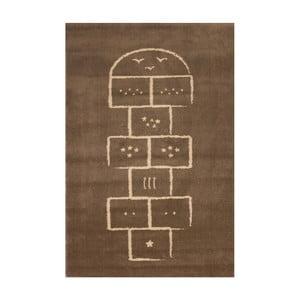 Hnědý koberec Art For Kids Hopscotch, 135x190cm