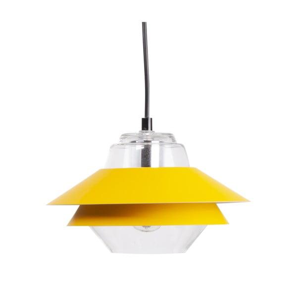Žluté závěsné svítidlo sømcasa Pola, ø 18cm