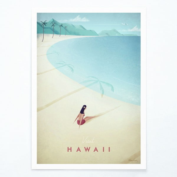 Poster Travelposter Hawaii, A3