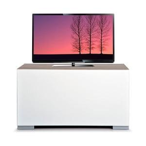 Televizní stolek Decoflex Full, bílý/dub cordoba