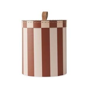 Červeno-bílý úložný box OYOY Cute, ⌀ 17 cm