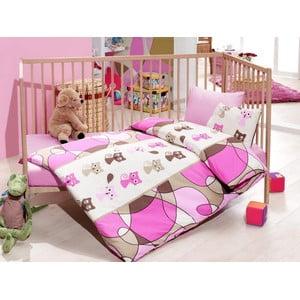Set dětského povlečení Perfect Flower 100x135 cm, Pisi Pink
