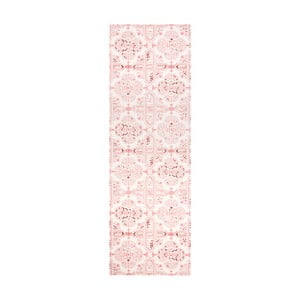 Růžový kuchyňský běhoun Hanse Home Cook and Clean, 45x140cm