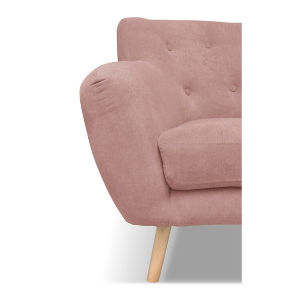 Canapea cu 2 locuri Cosmopolitan design London, roz deschis