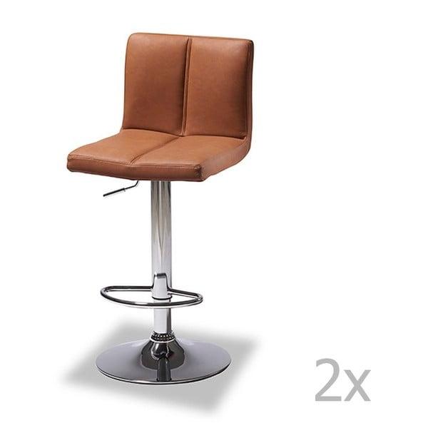 Sada 2 barových světle hnědých židlí Furnhouse Coco