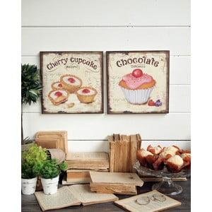 Nástěnná dekorace Cupcakes, 2 ks