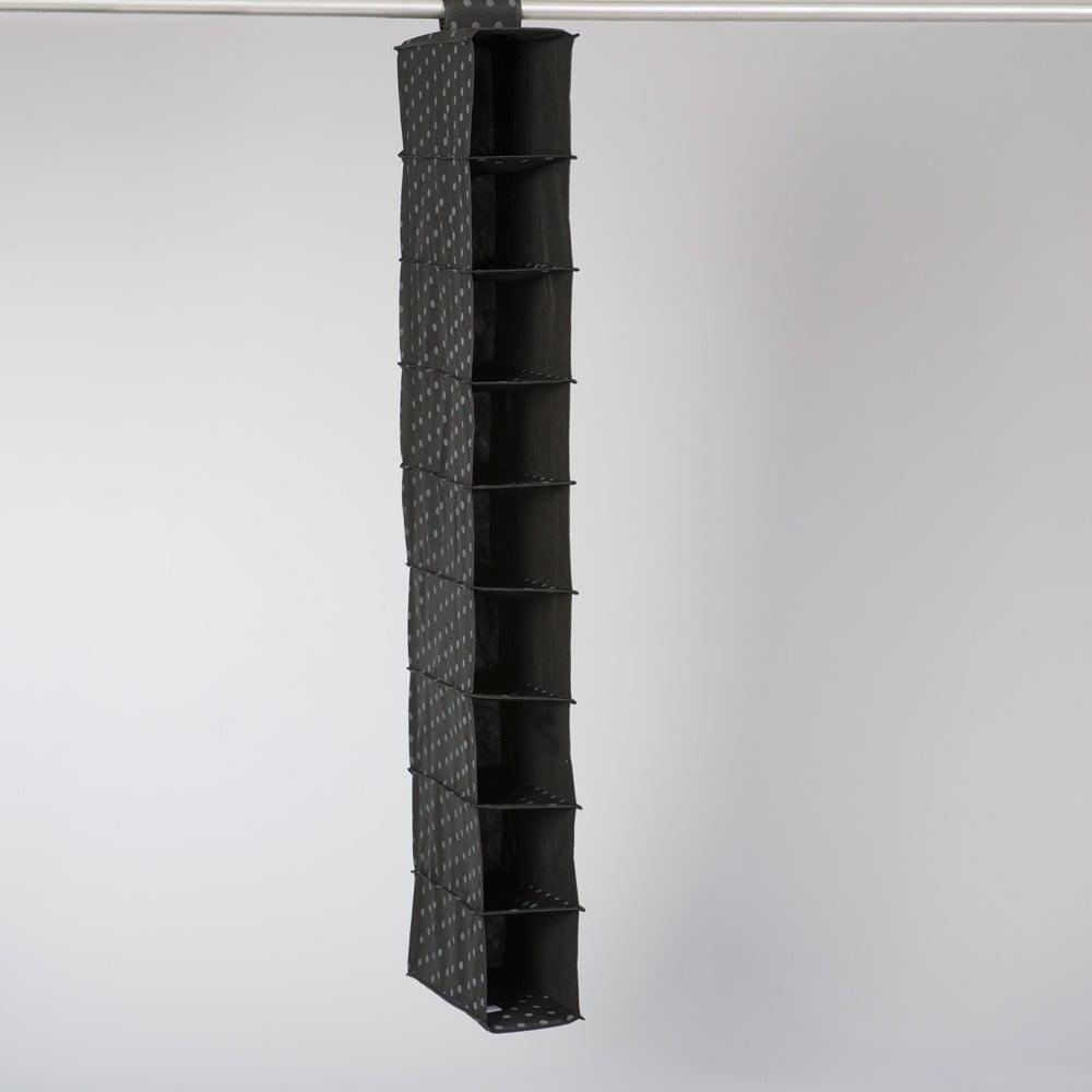Černý závěsný organizér s 9 přihrádkami Compactor Garment