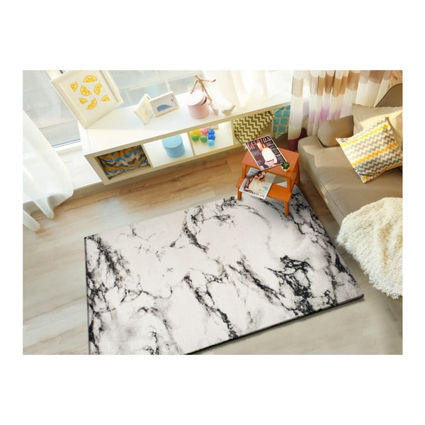 Bílý koberec vhodný i na ven Universal Kaunas, 160 x 230 cm