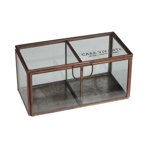Úložný skleněný box Grazia, 15x8 cm
