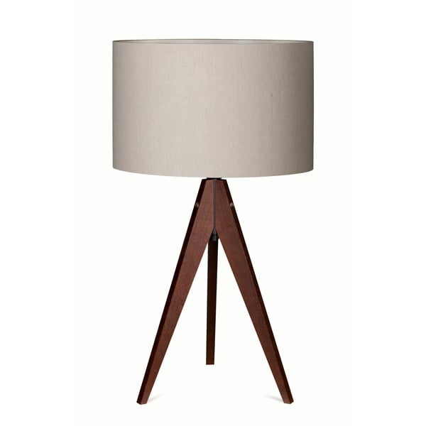 Stolní lampa Arist Grey/Dark Brown