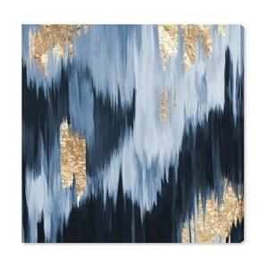 Obraz Oliver Gal Gold Blue Fail, 40x40cm