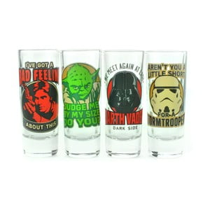Set 4 pahare shot Star Wars™ Quotes, 55 ml