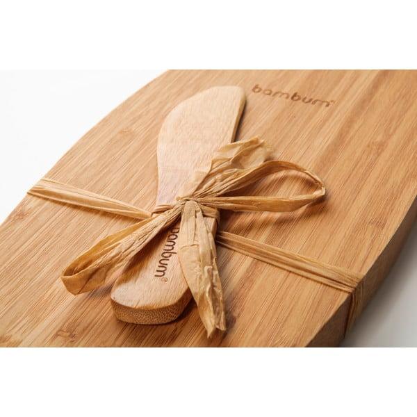 Bambusový podnos s nožem na sýry Bambum Fiera