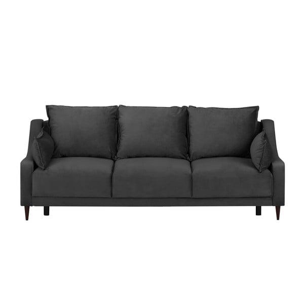 Canapea extensibilă cu 3 locuri Mazzini Sofas Freesia, gri închis