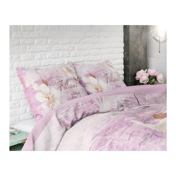 Bavlněné povlečení na jednolůžko Sleeptime Blossom, 140 x 220 cm