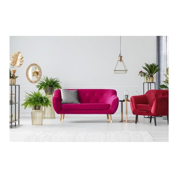 Růžová dvoumístná pohovka Mazzini Sofas Amelie