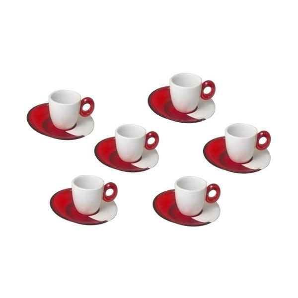Sada 6ks malých červených šálků