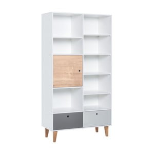 Knihovna z dubového dřeva Vox Concept Naturale, 105 x 215 cm