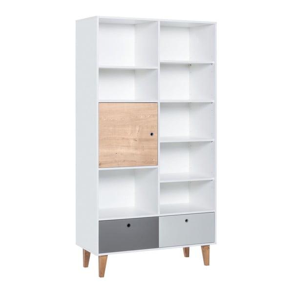 Knihovna z dubového dřeva Vox Concept Naturale, 105 x 201,5 cm