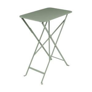 Šedozelený zahradní stolek Fermob Bistro, 37 x 57 cm
