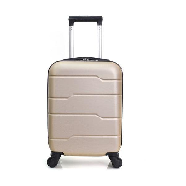 Béžový cestovní kufr na kolečkách Hero Santiago,30l