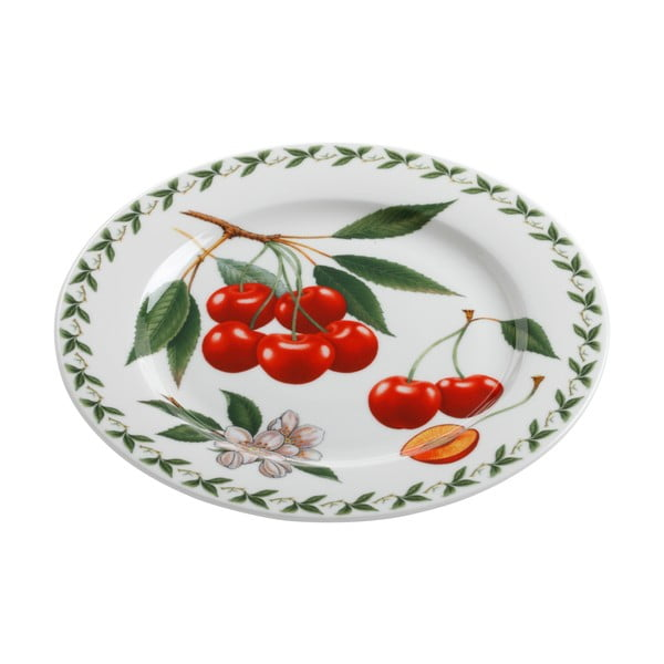 Farfurie din porțelan chinezesc Maxwell&Williams Orchard Fruits Cherries, ⌀20cm