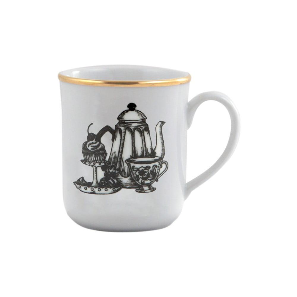 Porcelánový hrneček Vivas Tea Time, 330ml