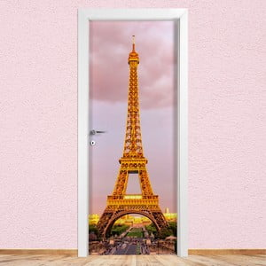Samolepka na dveře LineArtistica Tour Eiffel, 80 x 215 cm