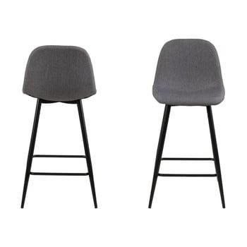 Set 2 scaune Actona Wilma, gri deschis imagine