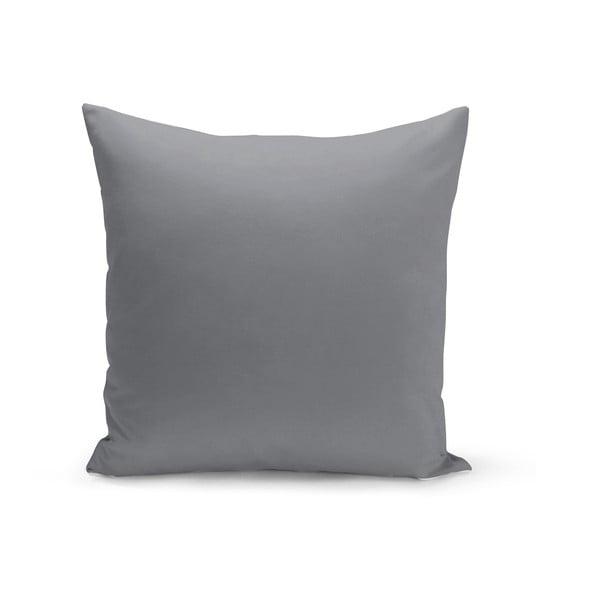 Tmavě šedý polštář s výplní Lisa, 43 x 43 cm