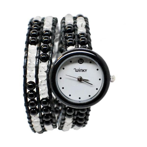 Korálkové hodinky Double, Black Mojito