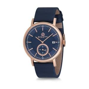 Pánské hodinky s modrým koženým řemínkem Bigotti Milano Oceanias