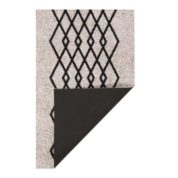 Krémovo-černý běhoun Hanse Home Cook & Clean Elizabeth, 60x180cm