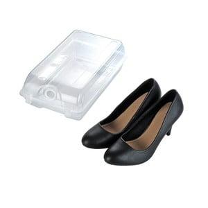 Transparentní úložný box na boty Wenko Smart, šířka 19,5 cm