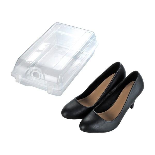 Przezroczysty pojemnik na buty Wenko Smart, szer. 19,5 cm