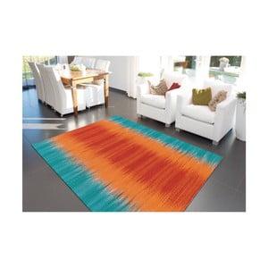 Oranžovo-modrý ručně vyráběný koberec Arte Espina Sunset 8070, 90x160cm