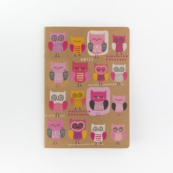 Caiet de notiţe GO Stationery Owls