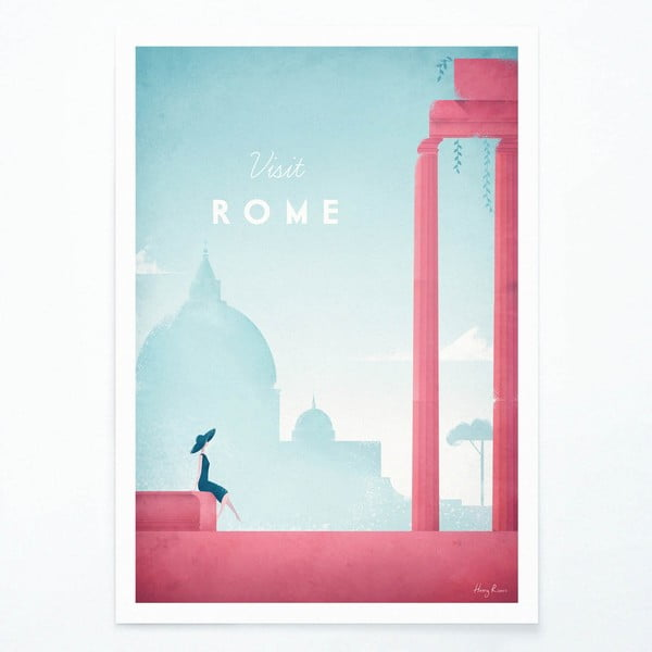 Poster Travelposter Rome, A3